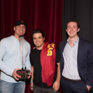 Ryan Ozonian (Cyber Dust CEO), Mark Cuban, and Me.
