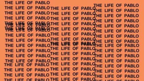 RIAA Platinum The Life of Pablo Album Cover